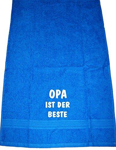 Opa ist der Beste; Handtuch, royalblau