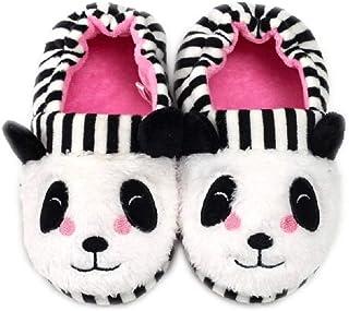 MASOCIO Pantofole per Bambini Animali Peluche Scarpe Ciabatte Chiuse da Casa Antiscivolo