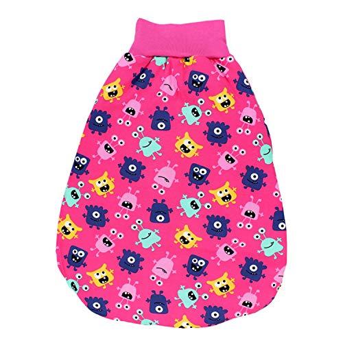 TupTam Baby Unisex Strampelsack mit breitem Bund Wattiert, Farbe: Süße Monster Pink, Größe: 6-12 Monate