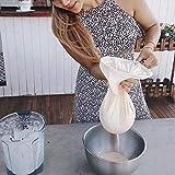 DEFTSHEEP 1 UNID 20x30 CM Filtro de Nylon de Grado alimenticio Malla 200 / 300Mesh Aceite de Cocina Té Milk Bag Strainer Malla Fina Filtrada de café Filtro de café Bolsas de Tela