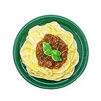 Scale: 1/12 Puppenhaus Küche Miniatur Inklusiv: 1x Spaghetti Bolognese (ohne andere Artikel) Grösse (LxBxH): 3x3x1,2 cm Gegenstände sind geklebt. Hohe detaillierte und gute Verarbeitung: Für Puppenhaus Dekor der Küche, Esszimmer, Wohnzimmer, Restaura...