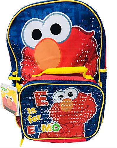 Seasame Street Elmo 40,6 cm Grand Sac à Dos avec Sac de Déjeuner, Cartable, sac à dos, sac de voyage