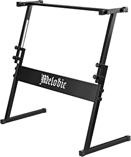 Melodic Z Style Keyboard Piano Stand for 54/61 Keys Keyboard Digital Electronic Piano Height Adjustable Holder Heavy Duty