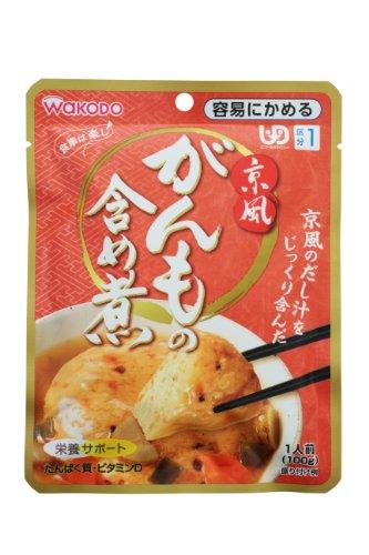和光堂 食事は楽し 京風がんもの含め煮 100g×6個 【区分1:容易にかめる】