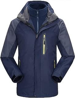 Mochoose Men's Mountain Windproof Waterproof 3 in 1 Fleece Ski Jacket Hooded Rain Coat