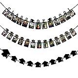3 banderines colgantes para fotos de graduación 2021,decoraciones para fiestas de graduación,clase de graduación de 2021 pancarta fotográfica banderines de fotos para fiestas de graduación