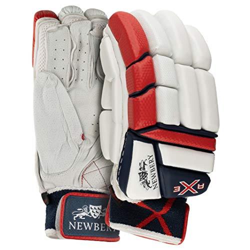Newbery 015060499103133/AG2 - Guantes de Bateo con Hacha de Cricket, Color Blanco y Rojo ✅