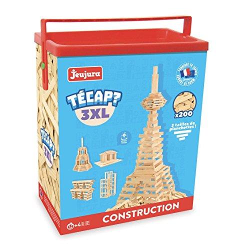 Jeujura - 8322- Jeux de Construction-Tecap Baril de Planchettes 3XL - 200 Pieces
