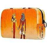 Bolsa de maquillaje egipcia para maquillaje de momias egipcias, bolsa organizadora para viajes, portátil, para niñas, mujeres