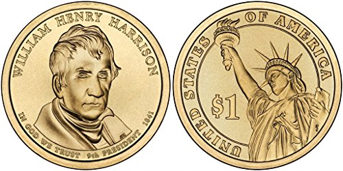 2009 D William Henry Harrison, 25-coin Bankroll of Presidential Dollars Uncirculated