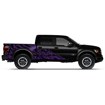 Factory Crafts Ford Raptor 2010-2014 Crew Cab Standard Bed Nightmare Graphics Kit 3M Vinyl Decal Wrap Matte Black