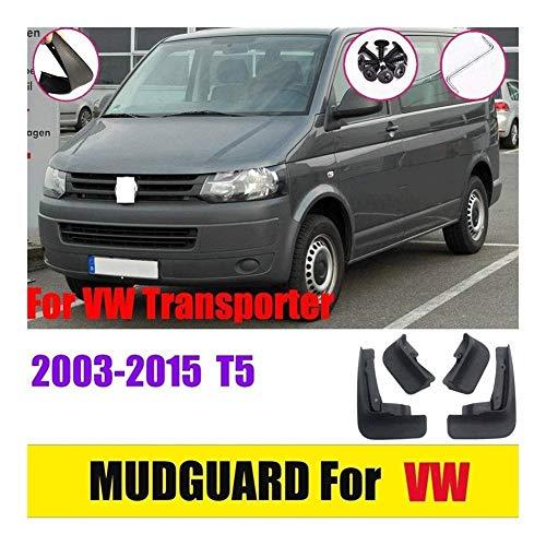 4 Guardabarros Aletas De Barro Coche ,para VW Transporter T5 2003-2015 Moldeados Mud Flap Splash Guardia Fender De Coche FaldóN Juego De Delanteras Y Traseras 4 Piezas