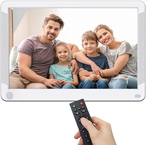 MELCAM Digitaler Bilderrahmen 10 Zoll,1080P IPS Display Elektronischer Bilderrahmen für Foto/Musik/Video Player mit Kalender/Wecker, Bewegungssensor, mit Fernbedienung