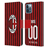 Head Case Designs Personalizzata Personale AC Milan Home 2019/20 Kit Cover in Pelle a Portafoglio Compatibile con Apple iPhone 12 / iPhone 12 PRO