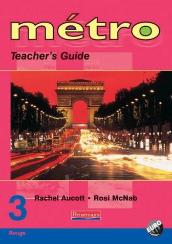 Metro 3 Rouge Teacher's Guide Euro Edition (Metro for 11-14)