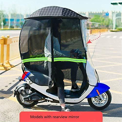 Pabellón De Motocicleta Totalmente Cerrado Universal, Techo De Motocicleta, Motor, Visera De Sol para Bicicleta, Sombrilla para Tienda (Color : Black, Size : B)