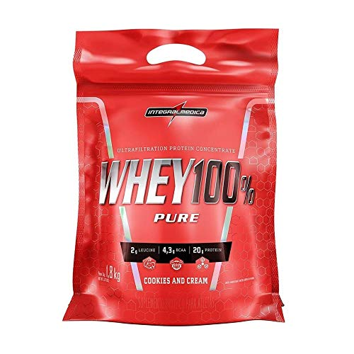 Whey 100% Pure Refil (1,8Kg) - Sabor Cookies and Cream, Integralmédica