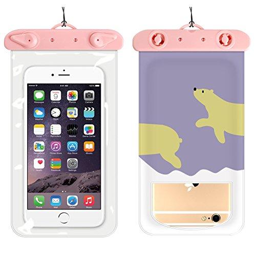 CAOLATOR. Handytasche Wasserdicht Taschen wasserdichte Handyhülle Karikatur Polaris Universal Unterwasser Wasserfeste Handy Hülle für Smartphone den Strand & Wassersport