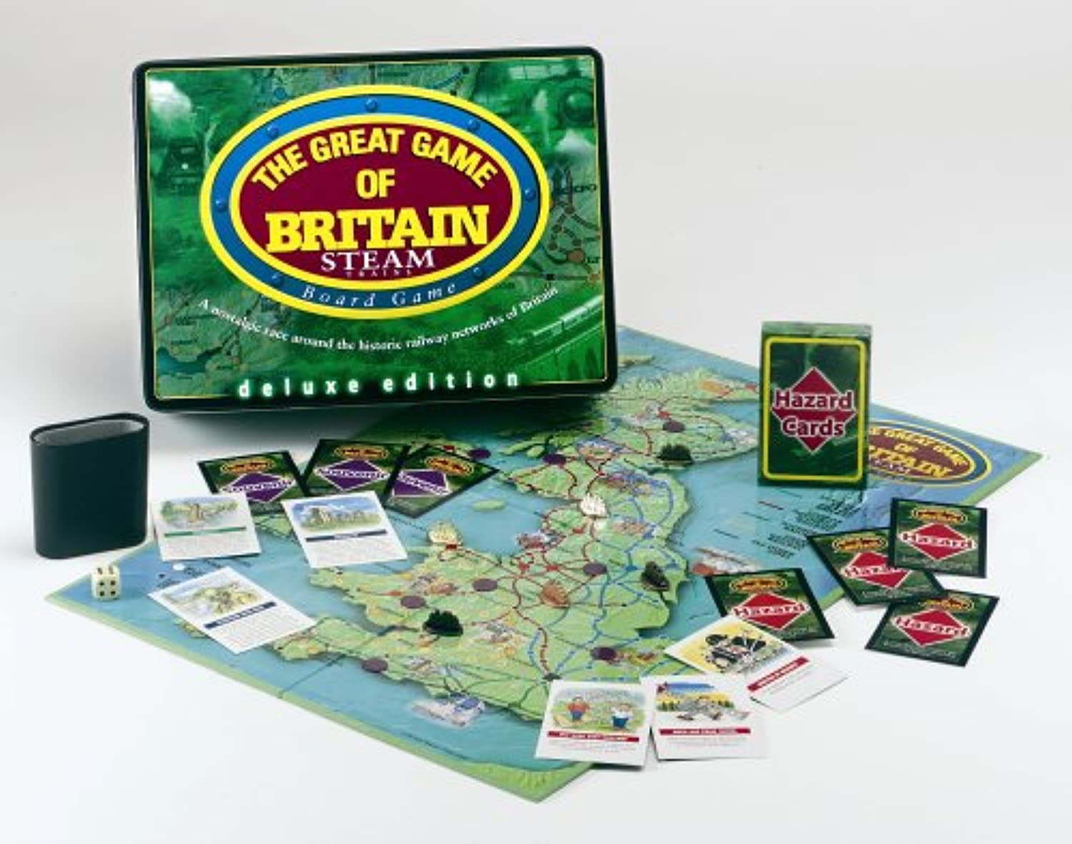 The Great Game Of Britain Steam Trains Board Game Deluxe Tin
