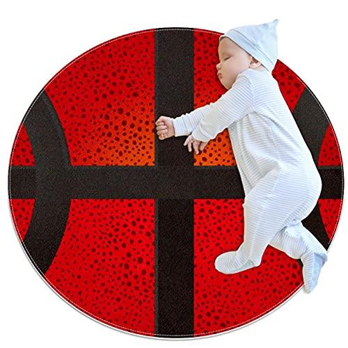 Textura de balón de baloncesto de lujo, antideslizante, alfombra de suelo para salón, habitación infantil, habitación de bebé, habitación de chicas y nursery, decoración moderna para el hogar