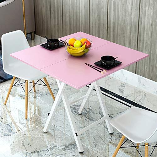 YY&L Table Carrée Pliante Portable Multifonctionnelle - Dortoir Extérieur Salon/Cuisine Petite Table Pliante - Couleur Bois / 60Cm,Pink
