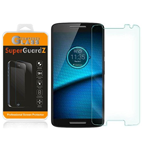 [2-Pack] For Motorola DROID Maxx 2 (2015 Release, For Verizon) - SuperGuardZ® Tempered Glass Screen Protector, 9H, 0.3mm, 2.5D Round Edge, Anti-Scratch, Anti-Bubble