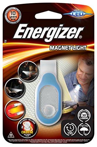 Energizer E300682400 - Luz funcional LED con clip magnético, 30 lm, 15 horas, resistente al agua, tamaño compacto, pilas incluidas