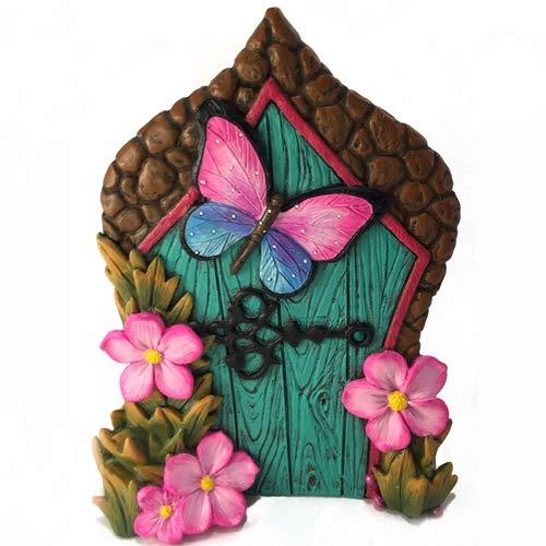 GlitZGlam Miniatur-Schmetterlings-Fee Tür für Miniatur Gartenfeen und GNOME. EIN Fee und Rasen GNOME Garten Accessoire
