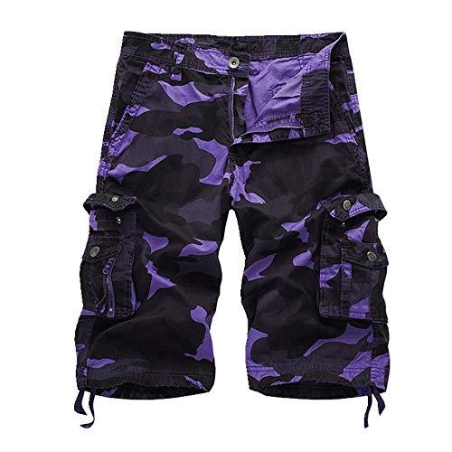NOBRAND Verano Nuevos Hombres Sueltos Casual Cinco División Pantalones Cortos Camuflaje