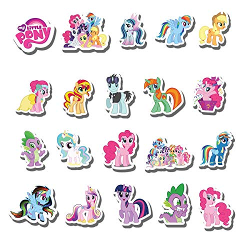 20 PCS Stickers Pack The Little Aesthetic Vinyl My Pony Colorful Waterproof for Water Bottle Laptop Scrapbooking Luggage Guitar Skateboard