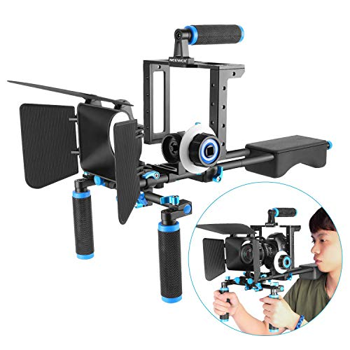 Neewer DSLR Movie Rig Aleación Aluminio para Reflex Digitales Canon Nikon Sony(1)...