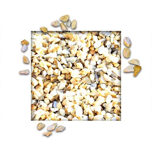 25 kg Marmorsplitt Siena Gelb Ziersplitt Deko Marmor Dekoration Splitt Zierkies Körnung 8/12 mm