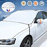 GAMURRY Windshield Cover Set for Ice and Snow for Car, Car Windshield Snow Cover Ice Removal for Winter Protection with Side Mirror Covers for Most Cars, Trucks, SUVs, MPVs
