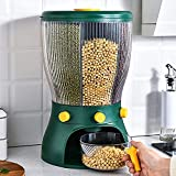 VARNI KART Easy Flow cereal dispenser for kitchen Glass Grain Storage Box Single Dry Food Snack Countertop Container Tank for Pulses, Cornflakes, Rice, Nuts, Candy, Coffee Bean,Jar (4 in 1 Round)