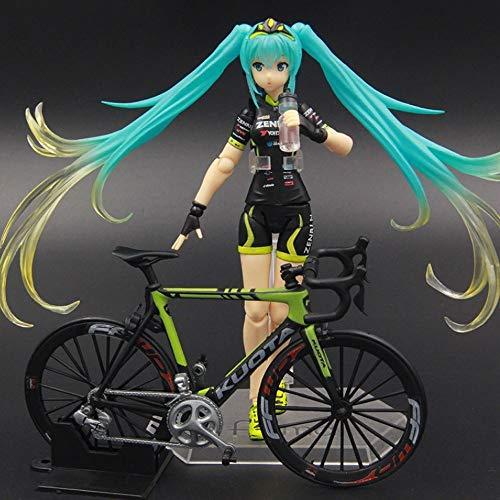 Yifuty Hatsune Miku Racing Bike Geers se Puede Utilizar para Hacer Modelos, Adornos, figurillas, Series de PVC, películas y Caracteres de animación de TV, Altura 140 mm