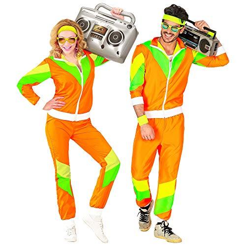Widmann 10174 - Kostüm 80er Jahre Trainingsanzug, Jacke und Hose, angenehmer Tragekomfort, Assi Anzug, Proll Anzug, Retro Style, Bad Taste Party, 80ties, Karneval