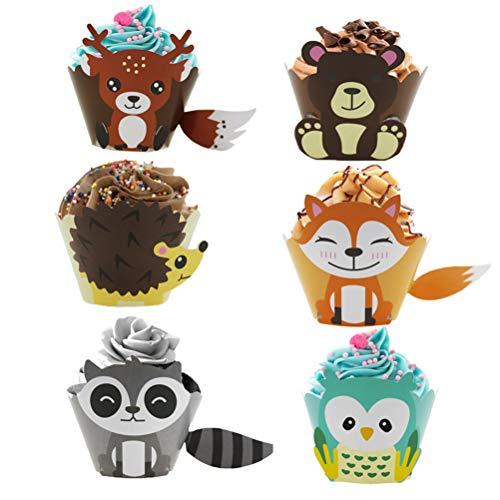 UPKOCH 24 Stück Cupcake-Einlagen in Tierform DIY Kuchen Muffin Liner Dekoration