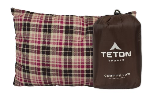 TETON Sports Camp Pillow; Great for Travel, Camping and Backpacking; Washable, Brown