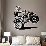 AQjept Etiqueta de la Pared de Motocross Art Room Boy Dirt Bike Motocross Bike...