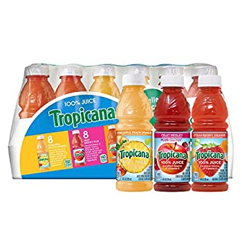 Tropicana 100% Juice 3-Flavor Fruit Blend Variety Pack 10 Fl Oz Bottles  Pack of 24
