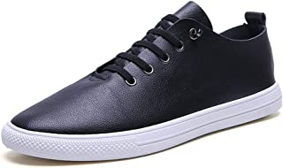 Effortless Sneakers For Men Gymnastic Shoes Lace Up Microfiber Leather Sports Running Training Keep Fit Exercise casual shoes (Color : White, Size : 40 EU)