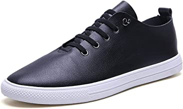 MYHYZZ-Athletic Shoes Casual Sneakers for Men Athletic Shoes Lace up Microfiber Leather Sports Running Training Keep Fit Exercise Men's Casual Shoes