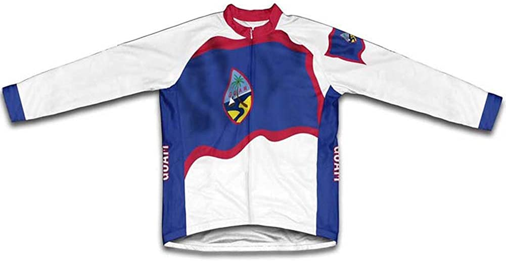 ScudoPro Guam Flag Oklahoma City Mall Winter Thermal Arlington Mall Jersey Men Cycling for