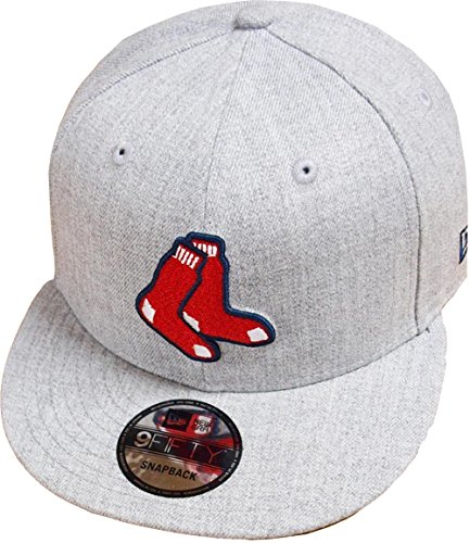 New Era Boston Red Sox Heather Grey MLB Snapback Cap 9fifty Limited...