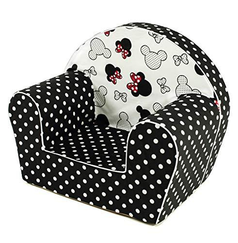 MuseHouse - Kindersessel. Kuschelig weicher Schaumstoff. Kinderstuhl zum Spielen. (MouseDots)