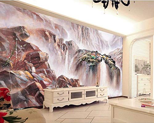 RTYUIHN Mural Wallpaper 3D Spectacular Scenery Waterfall Water Painting Mural Living Room Modern Wall Art Decoration