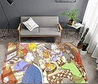 漫画のカーペット リビングルームのカーペット アニメ HUNTER×HUNTER カーペットドアマット カーペットフロア 寝室のドアマット 滑り止めマット 漫画のギフト 男の子や女の子の子供の寝室に最適 50*80cm-A_50X80CM