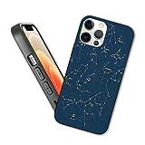 Compatible con iPhone 12 Series 2020 Funda Sky Map Andromeda Lacerta Cygnus Lyra Hercules Draco Botas Lynx para iPhone 12 Mini 5.4 pulgadas