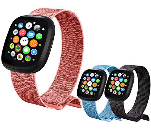 【3 Pezzi 】 Nylon Cinturino Orologio per Apple Watch Cinturino 38mm 40mm 42mm 44mm, Cinturini di Ricambio Sportivo per iWatch SE Series 6 5 4 3 2 1 (42/44MM)