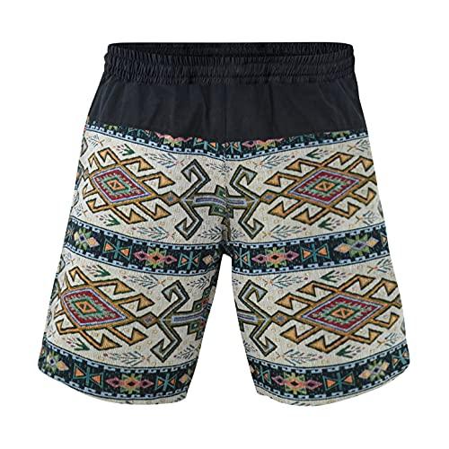 virblatt - Kurze Haremshose Herren | Baumwolle | Aladinhose Herren Kurz Sommerhose Herren Kurze Hose Bermuda Shorts Hippie - Quintessenz L-XL beige